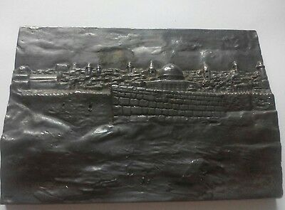 Sterling silver sculpture by mordechai zamir with certificate of Jerusalem city