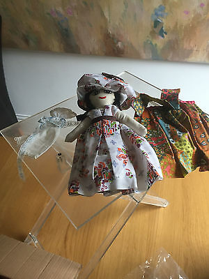 Vintage handmade rag doll, New  condition