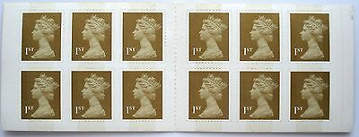 12 x 1st CLASS STAMPS MACHIN FORGERIES BOOKLET, MNH FORGERY FAKE WITH VARNISH