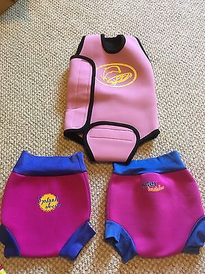 Girls 0-6 Months Swimming Bundle - Happy Nappy X 2 And Vest