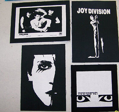 TheCure Joy Division Siouxsie n the Banshees ROZZ Williams GOTHJacket PATCH set