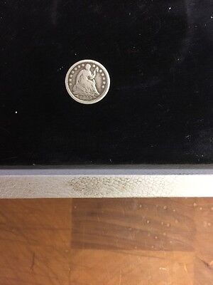1853 H10C Arrows Liberty Seated Half Dime