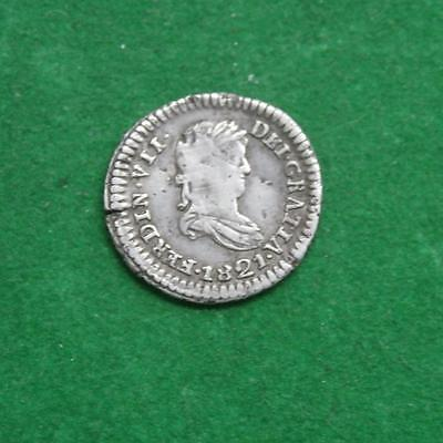 1821 Mexico War of independence Mexican Silver coin 1/2 Real Z RG Nice condition