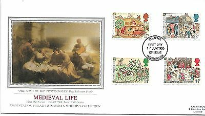 Medieval Life1986 BURG (Latin) Peterborough FDI on PPS Sotherbys Silk Cover.