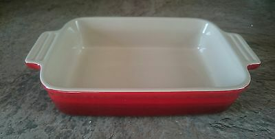 Le Creuset red rectangular oven dish/serving/baking 0.6L Pre-owned