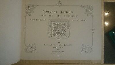 Rambling Sketches, from the old Churches in Llandaff, by C.B. Fowler,1st ed 1896