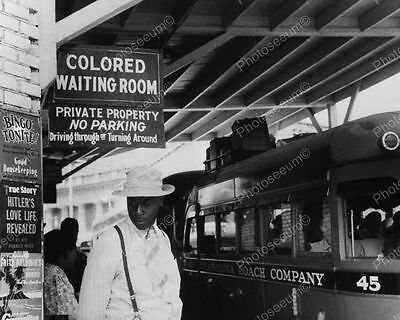 Bus Station Colored Waiting Area 1940 Vintage 8x10 Reprint Of Old Photo