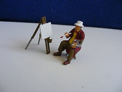 Seated Artist with Easel - 1:43/O Gauge Painted Metal Model