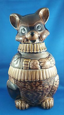 Raccoon Bandit Glossy Ceramique Cookie Jar Made in Japan
