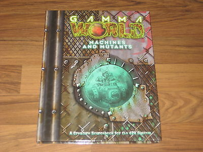 Gamma World Machines and Mutants 2003 d20 HC Wizards Of The Coast