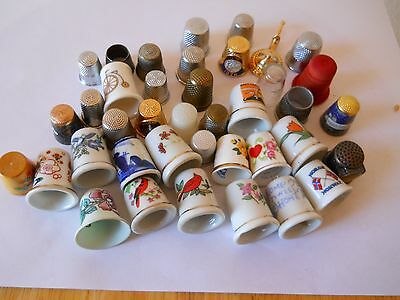 38 Thimbles of all designs