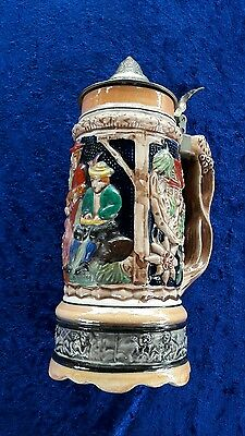 Musical Beer Stein With Pewter Lid