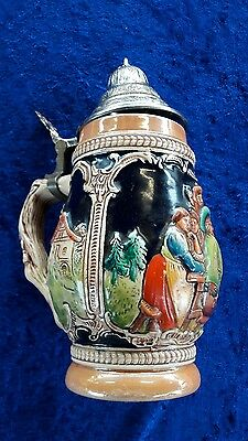 German Style Beer Stein With Lid