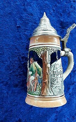 Collection of 4 small German and Dutch steins