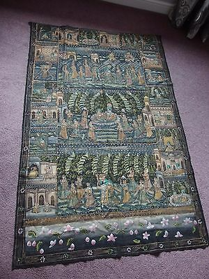 Indian antique hand painted Indian wall hanging picture