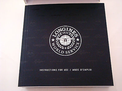 Longines  Watch Instruction Book For All Longines Watches ~ New