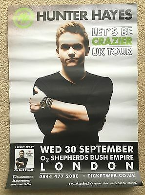 Hunter Hayes Let's Be Crazier UK Tour Poster RARE London Country Music