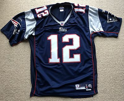 Tom Brady Jersey New England Patriots Reebok Authenic Large length +2 NFL