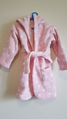 Kids pink dressing gown from George age 18 - 24 Months