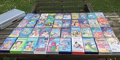 Collection Of 40 Disney Classic VHS With Video / DVD Player