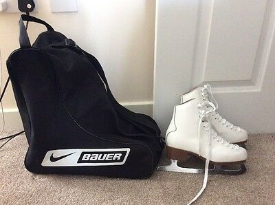 Jackson New English 500 Ice Skates Size 35, UK 2, and Nike Bauer Skate Bag