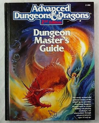Advanced Dungeons & Dragons Dungeon Master's Guide 2nd Edition 1st Printing AD&D