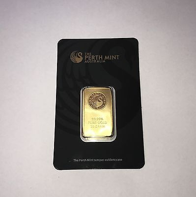 'The Perth Mint Australia' 20g Gold Bullion Bar