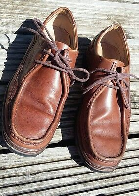 Mens Clarks brown size 8.5 wide fit shoes