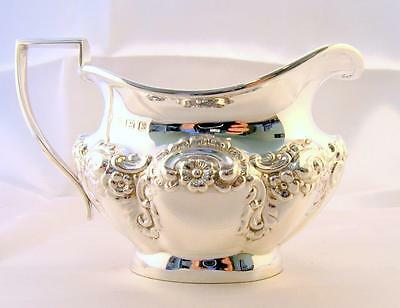 Solid Silver Stylish Ornate CREAM MILK JUG 1906 - 170gms