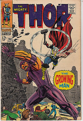 Thor #140 (May 1967, Marvel) The Growing Man