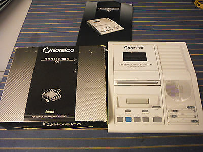 NORELCO 555 Minicassette Transcription System w/ Foot control Pedal 109
