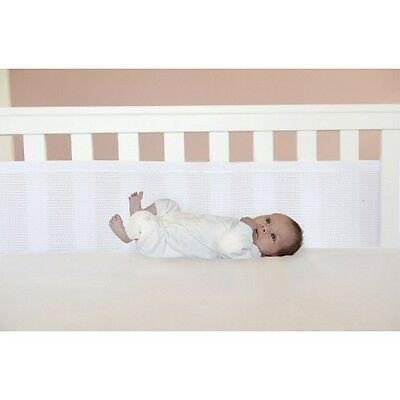 Safe Dreams Cot Wrap by Baby Bundle White 2 Sided