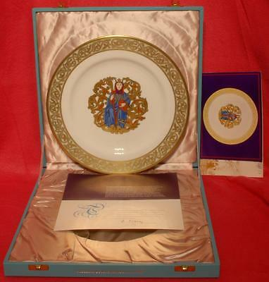 Spode/Mulberry Hall Ely Cathedral Plate Boxed L/Ed: 574/673 1973