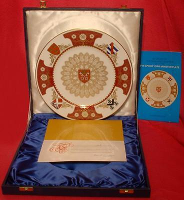 Spode The York Minster Plate Boxed L/Ed: 443/1972 dated 1972