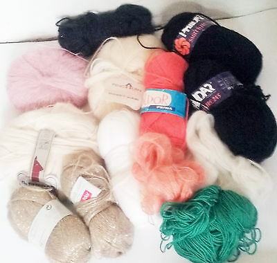 Yarn Joblot Mohair Alpaca Wool Soft Quality Pastel Gold Colours Crochet Knitting