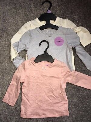 BNWT Baby Girl Long Sleeved T-Shirts 3-6 Months