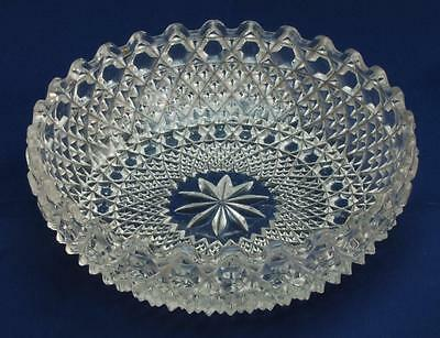 Clear Glass Bowl in a Moulded Hobnail Pattern
