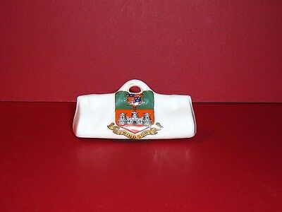 **VERY RARE** Arcadian Crested China Cricket Bag ( Royal Windsor Crest )