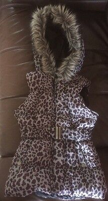 Girls Leopard Print Gilet Age10 Years