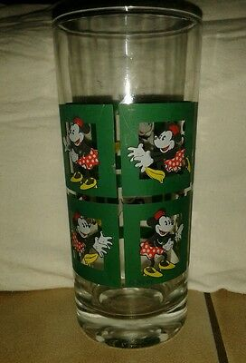 0,25l altes Disney Trinkglas Glas Minnie Maus Mouse Sammler Glas 6 Motive