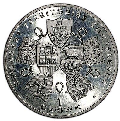 GIBRALTAR coin 1 CROWN 1993. Dependent Conference