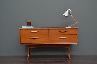 Compact Vintage Retro Mid Century Teak Sideboard with Drawers