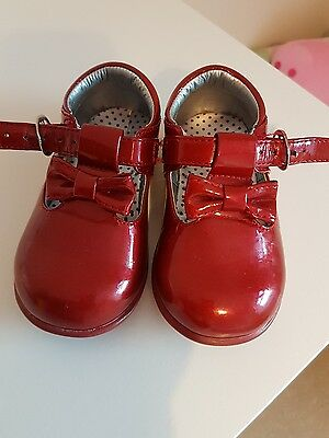 Mothercare Baby Girl Red Shoes size 4