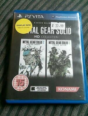 Playstation ps vita EMPTY REPLACEMENT GAME BOX metal gear solid hd collection