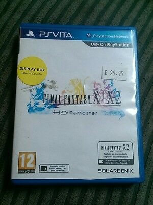 Playstation ps vita EMPTY REPLACEMENT GAME BOX final fantasy x / x-2 hd remaster