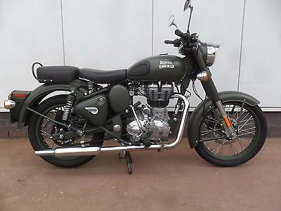 Royal Enfield Classic 500 in Battle Green. 2017 E4 model with just 1,650 miles