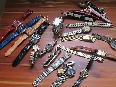 Vintage Lot Wristwatches And Bands