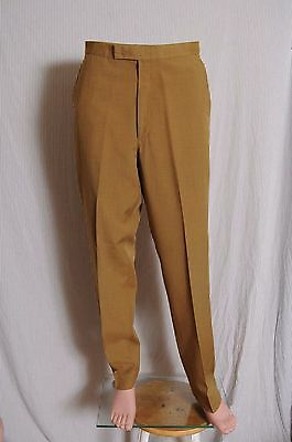 Vtg '60s Men's Olive Farah flat front drop loop tapered pants 32.5X 31.5