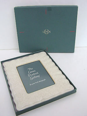 """New In Box Lenox Wedding Promises Collection Picture Frame For 5"""" X 7"""" Photo"""