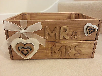 *** New - Wedding Crate / Box - Ideal For Cards Etc - Rustic / Vintage ***